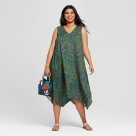 2bab228fbd6 Women s Plus Size Printed A Line Dress - Ava   Viv